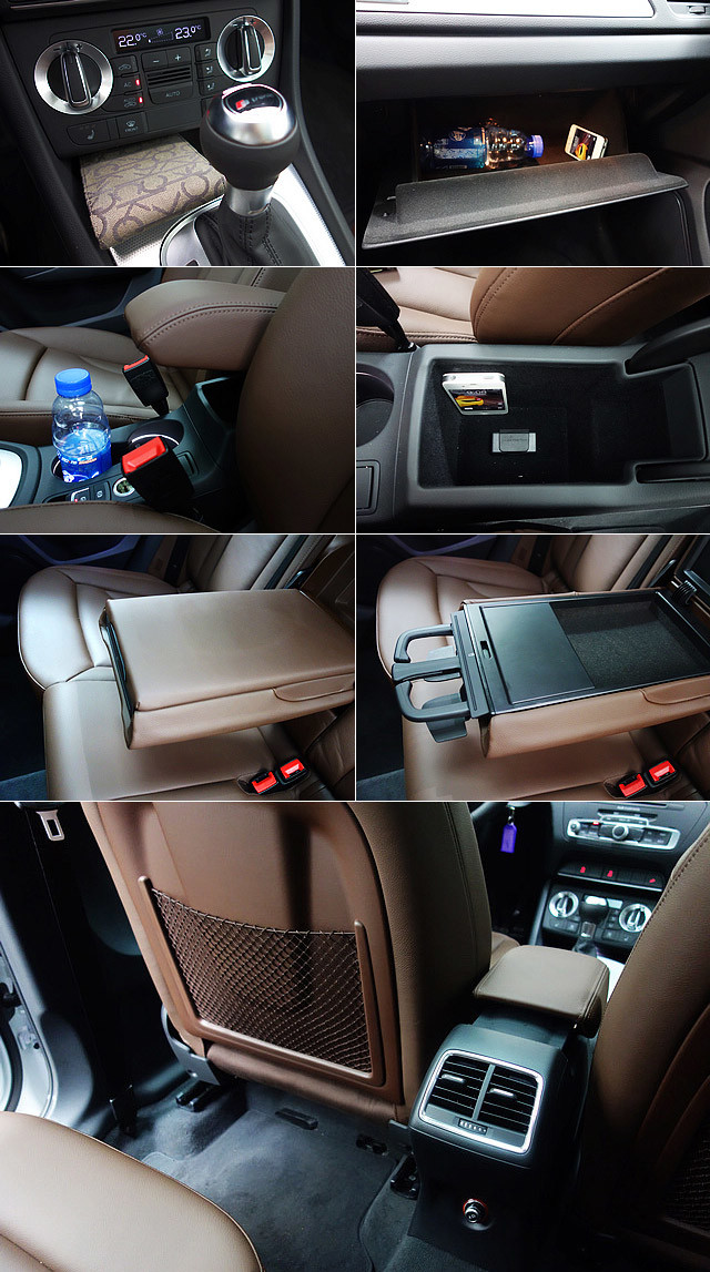 尽管行李箱空间略嫌偏小,但Q3车内还是提供了许多储物空间,为车主的日常使用增添了便利。