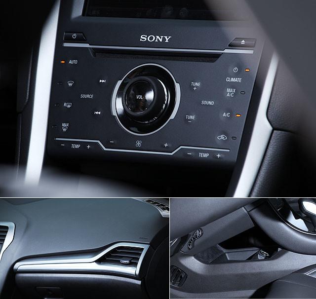 呼应外观设计上的改变,新一代蒙迪欧的内饰布局也变得更为简洁,细长的空调出风口,8英寸的触摸式显示屏加上触摸式中控面板便已构成了中控台的全部。