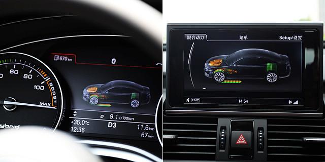 电动机只有在全油门加速的情况下才会与发动机一起加入驱动车辆,相信其480牛米的峰值扭矩也只有在这样的情况下才会全部输出,而在普通情况下,其动力表现与普通的2.0TFSI车型并不会有太过明显的差异。