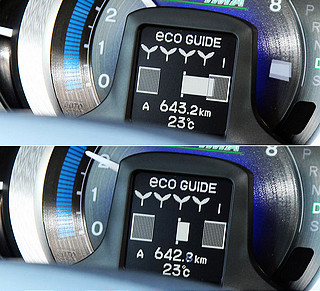 Scoring Function节能驾驶辅助计分系统则是通过在转速表中央的小型显示屏,用树叶与树苗的数量,显示长期驾驶过程当中的整体节能表现,让驾驶者能更全面地了解自己一定时期以来驾驶风格的改善情况。