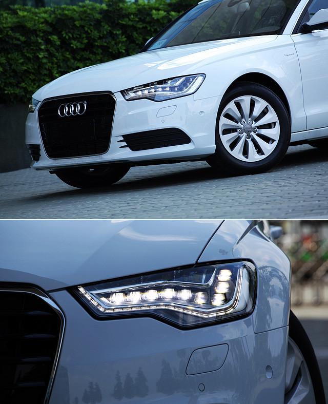 对于LED灯带的运用已经成为了奥迪外观设计上的一大标志。不过与以往的车型大多数只采用LED日间行车灯相比,A6 Hybrid这次将LED化进行得更为彻底,除了尾灯全面采用LED之外,头灯组也全面采用了LED设计。