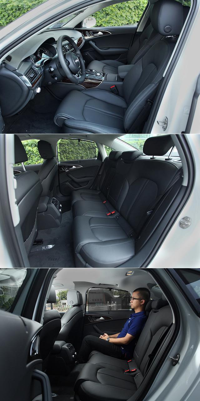 从A6L那近乎奢侈的后座进入A6 Hybrid的后排,相信大家一时间会颇不习惯,毕竟90mm的轴距差距反应在后排的腿部空间上还是会有颇为明显的差距。不过这并不代表A6 Hybrid的后排会显得局促,170cm的乘客坐在后排,近三拳的膝部空间也已经达到同级别车当中主流水准。