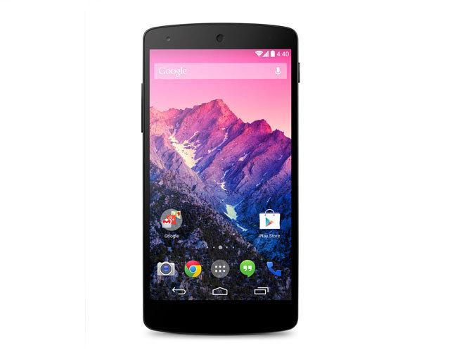 Nexus 5搭载最新Android 4.4 KitKat操作系统,16GB版349美元,32GB版399美元。