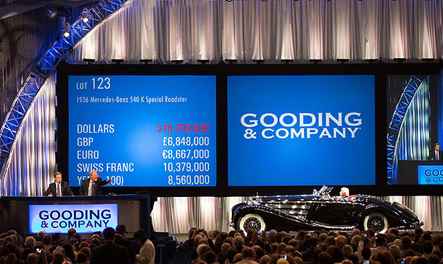 GOODING & COMPANY CAR AUCTION RECORD