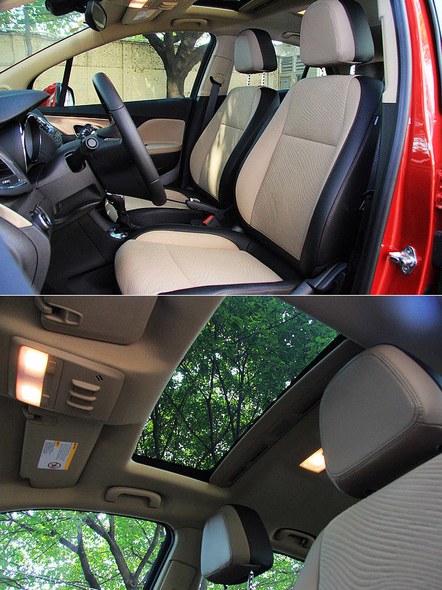 347mm的前排坐高让昂科拉拥有更为开阔的视野,相信会受到女性消费者的青睐。