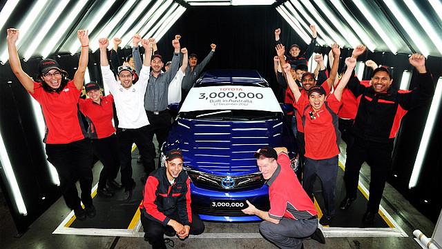 2012年12月,丰田在澳大利亚本土的累计产量达到300万辆,可惜好景不再,丰田将于2017年年底正式关闭在澳大利亚的生产线。