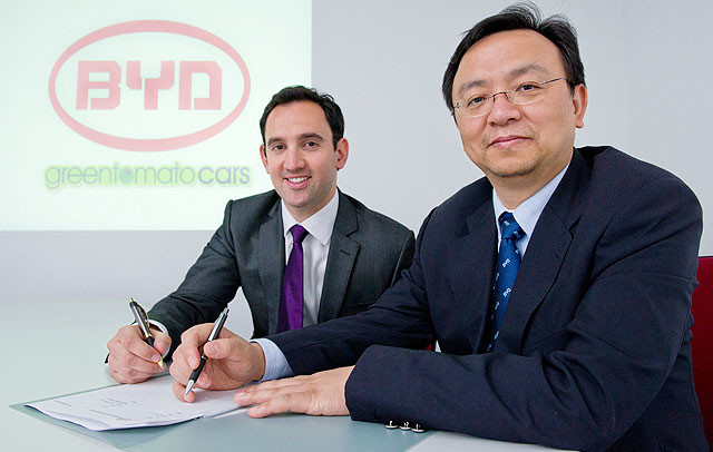 BYD signs agreement with greentomatocars