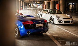 啊车网精美图集 Audi R8 & Porsche 911 GT2