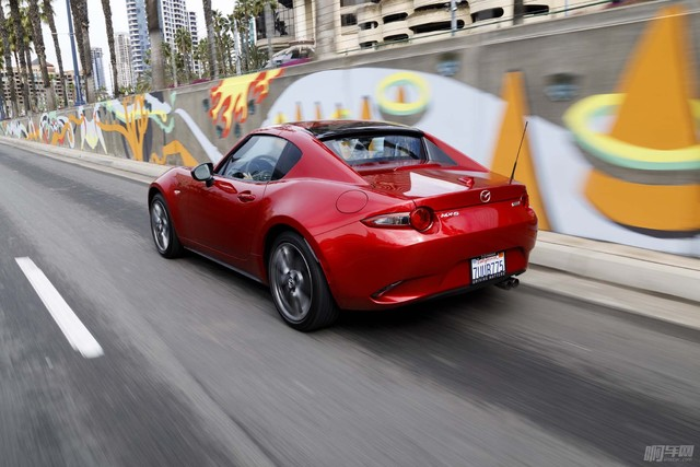 2017-Mazda-MX-5-Miata-RF-rear-three-quarter-in-motion-05